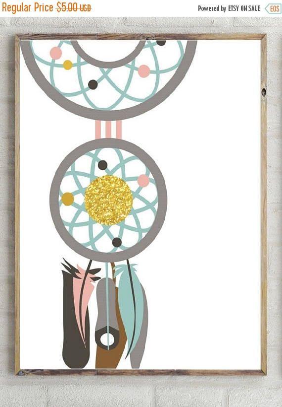 60%OFF dream catcher printnursery room decor nursery poster