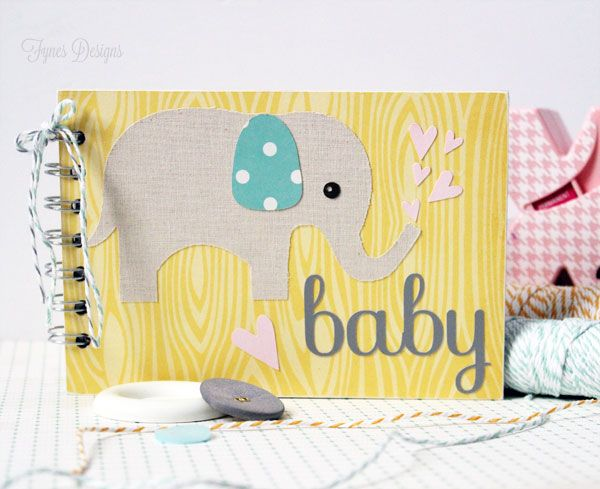 Today's project is soooo cute, and since I'm in baby mode this week I thought this project was very fitting! I came across the sweetest set of elephant baby wishes cards from A Creative Destiny and...