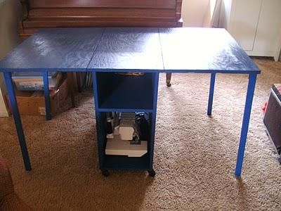 Sewing Table for small spaces   Do It Yourself Home Projects from Ana White