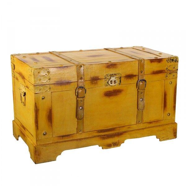 Ba l madera amarillo ideas mi casa pinterest baul for Baul madera barato