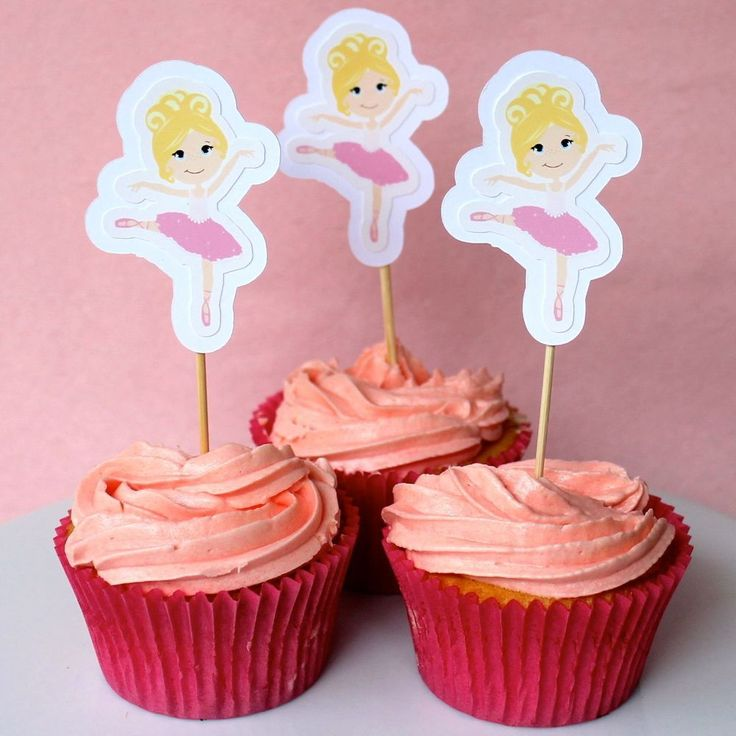 Ballerina Cupcake Toppers - 6 Pack