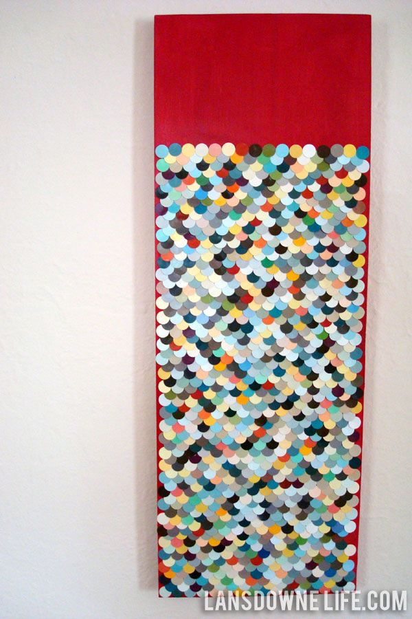 Paint Chip Wall Art by lansdownelife #DIY #Paint_Chip #Wall_Art