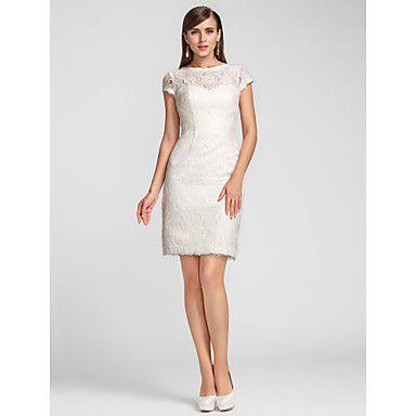 Sheath/Column+Jewel+Knee-length+Lace+Cocktail+Dress+(631227)+–+AUD+$+116.87