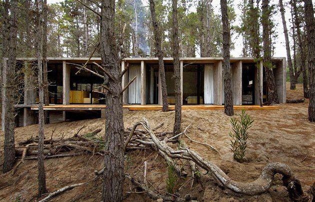 Minimalistický dům 14x6,9m - kuchyň, jídelna, koupelna, 2x ložnice