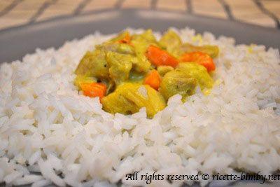 Pollo al curry con riso basmati Bimby • Ricette Bimby