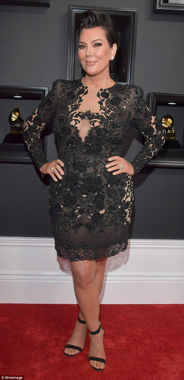 He's a no show: Kris Jenner confirmed West would not be attending the Grammy Awards Sunday...