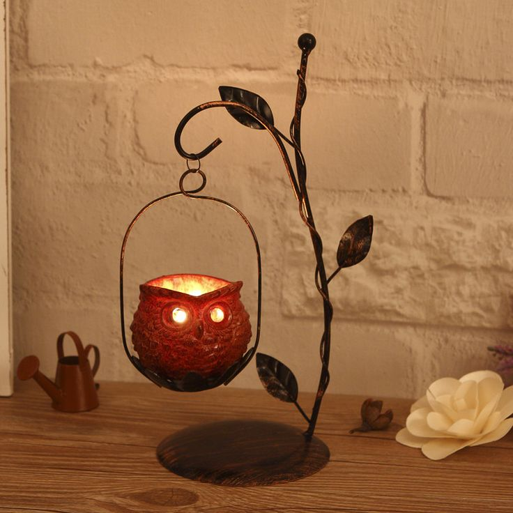Handmade Owl candle holder  Owl DecorationsHome. 25  best ideas about Owl Home Decor on Pinterest   Owl decorations