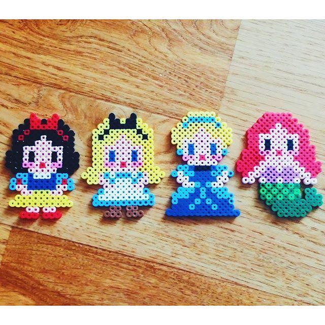 Disney Princess perler beads by dy_dada