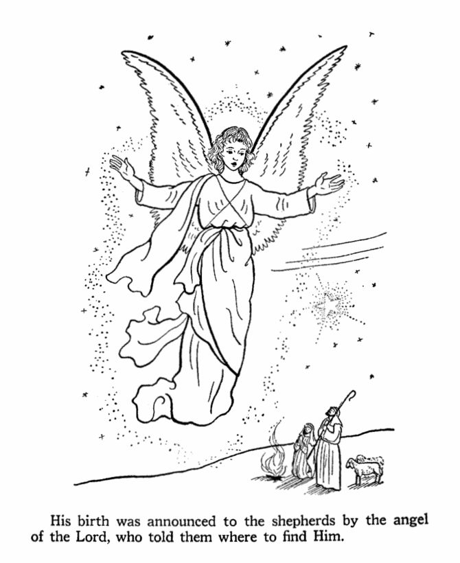 Bible Christmas Coloring Pages Printables