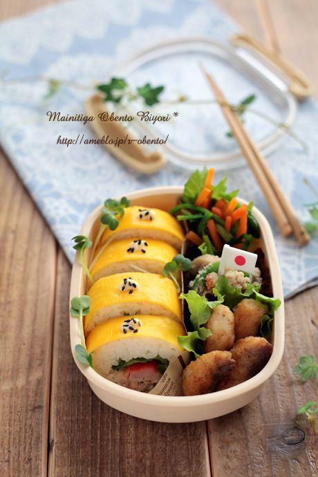 節分にも★薄焼き卵の巻き寿司弁当~小学生用のお弁当~ の画像|あ~るママオフィシャルブログ「毎日がお弁当日和♪」Powered by Ameba