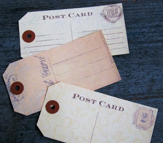 116 best envelopes letters mail images on pinterest love vintage tags as business cards postcards or fliers reheart Choice Image