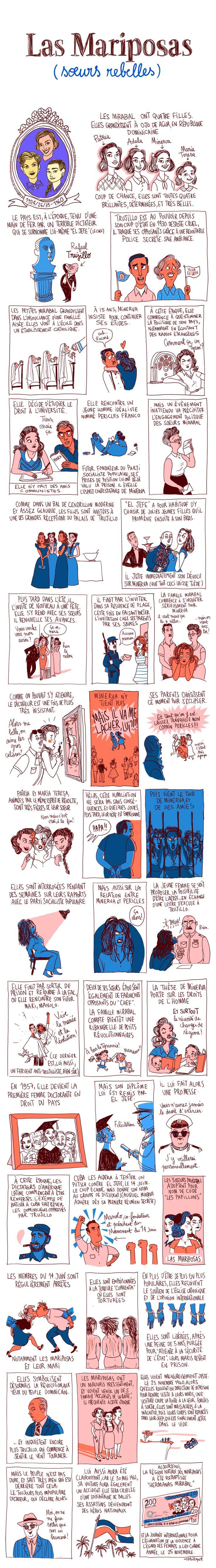 Pénélope Bagieu, les Culottées : Les Mariposas (soeurs rebelles)