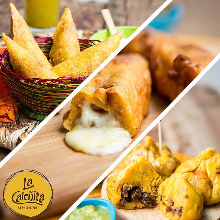 Empanaditas, Aborrajados o Marranitas, tres Antojitos muy vallunos, que podés encontrar en nuestro Café Bar La Caleñita. 🍴💖😋 #ArtesaniasLaCaleñita #CafeBarLaCaleñita #ArtesaniasColombianas