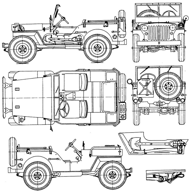 jeep coloring book material