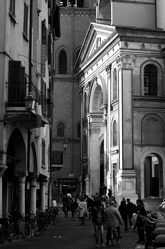 Mantova, Italy - Alberti's 1462 facade for the Basilica of Sant' Andrea, Mantua