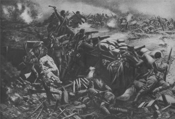 Artistic representation of Canadians troops during the Second Battle of Ypres. Lear about how this battle forever changed #WW1. #cdnhistory