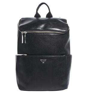 Asos Matt & NatBrave Simple Backpack in Black $150.55
