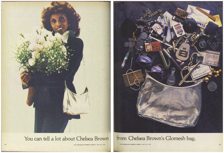 You can tell a lot about Chelsea Brown from Chelsea Brown's Glomesh bag... #ChelseaBrown #Glomesh