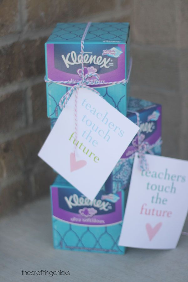 Kleenex Teacher Gift Idea With Printable Tag Printable