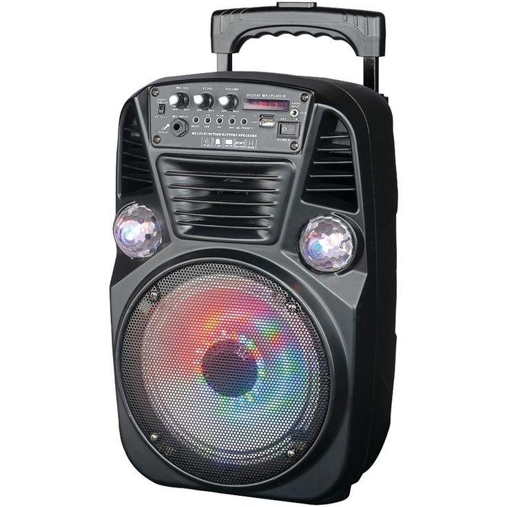 Supersonic IQ-3078DJBT Bluetooth(R) Disco Light DJ Speaker