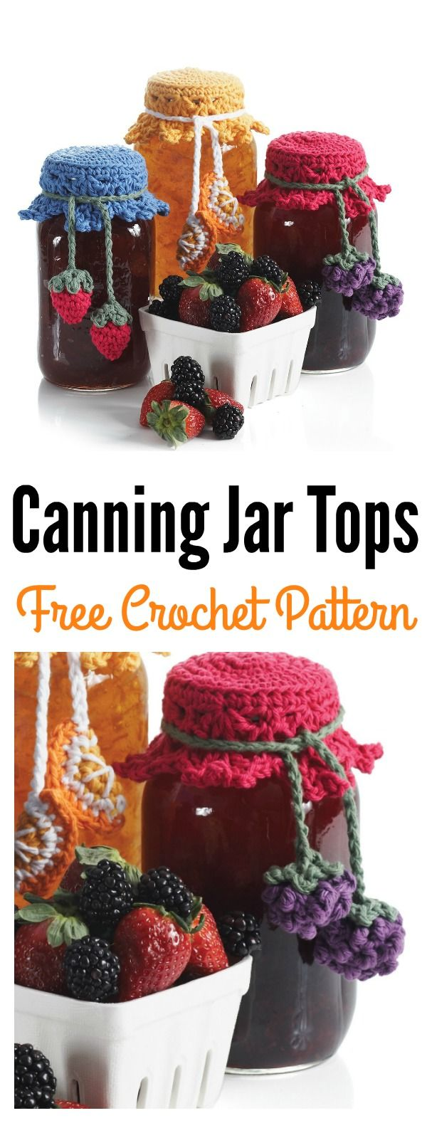 Canning Jar Tops Free Crochet Pattern