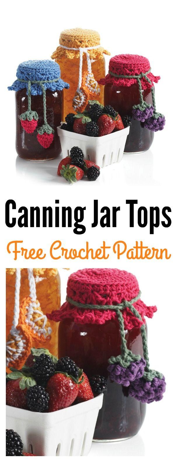 Canning Jar Tops Free Crochet Pattern