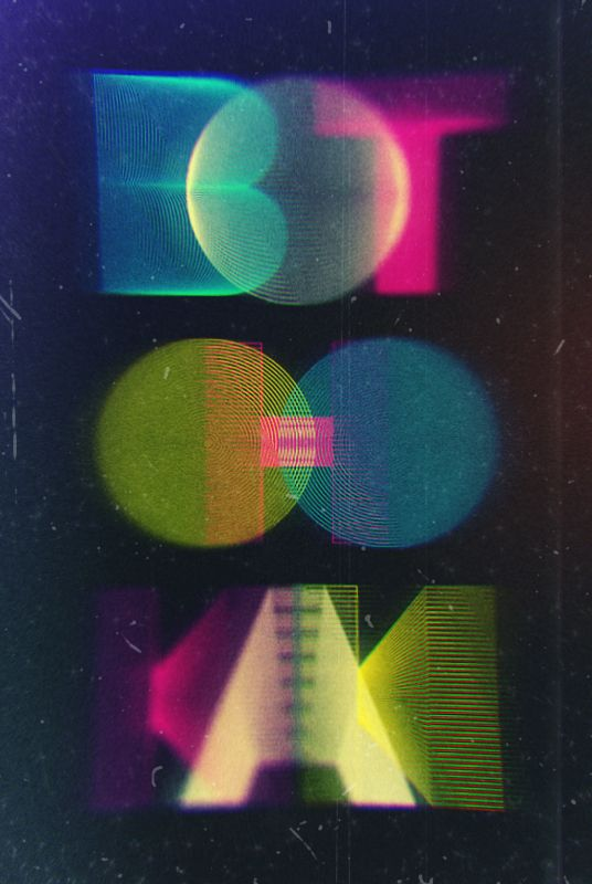 Glow #Poster with nice faded Letters by Michael Schettler