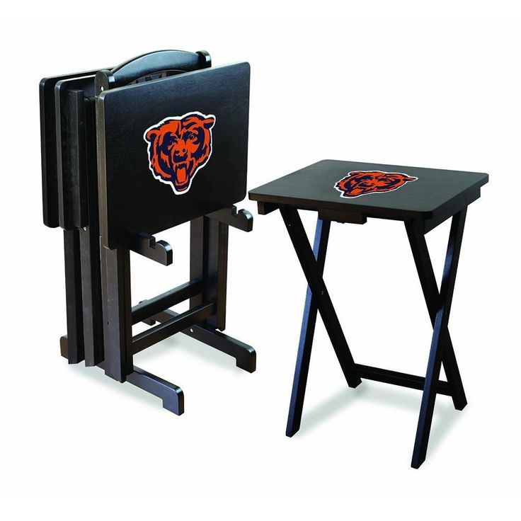 Chicago Bears NFL TV Tray Set with Rack
