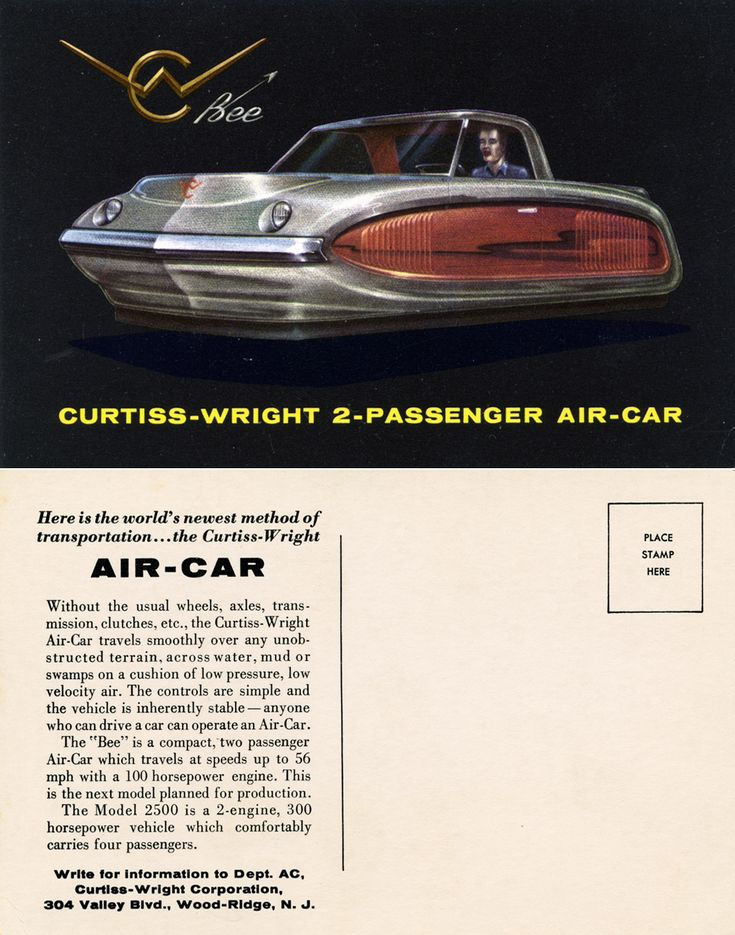 Curtiss-Wright Bee, Two Passenger Air-Car (1959)