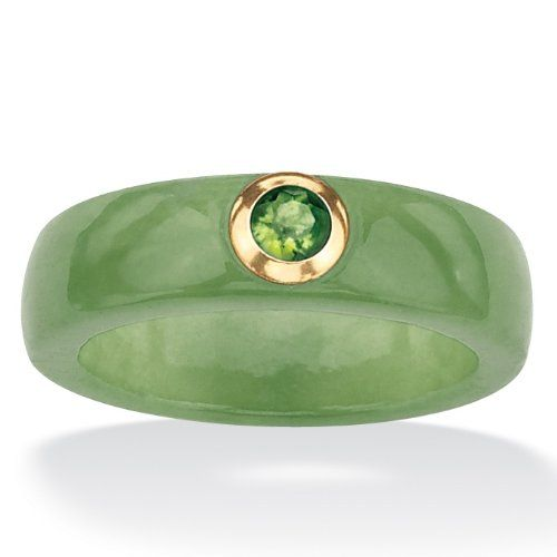 #Shopping #Bargain #Deals #Affordable #PalmBeach #Jewelry 10k #Gold #Green #Jade and Peridot Ring  From Palm Beach Jewelry  Price:$49.99