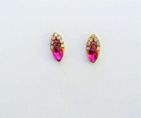 2 pcs of pink Nail Charm,Pink Rhinestones Nail Studs,Nail Charms,Nail Bling,Nail Design,Nail Art,Nail Decal,Nail Jewelry,Wedding Nails,Nails