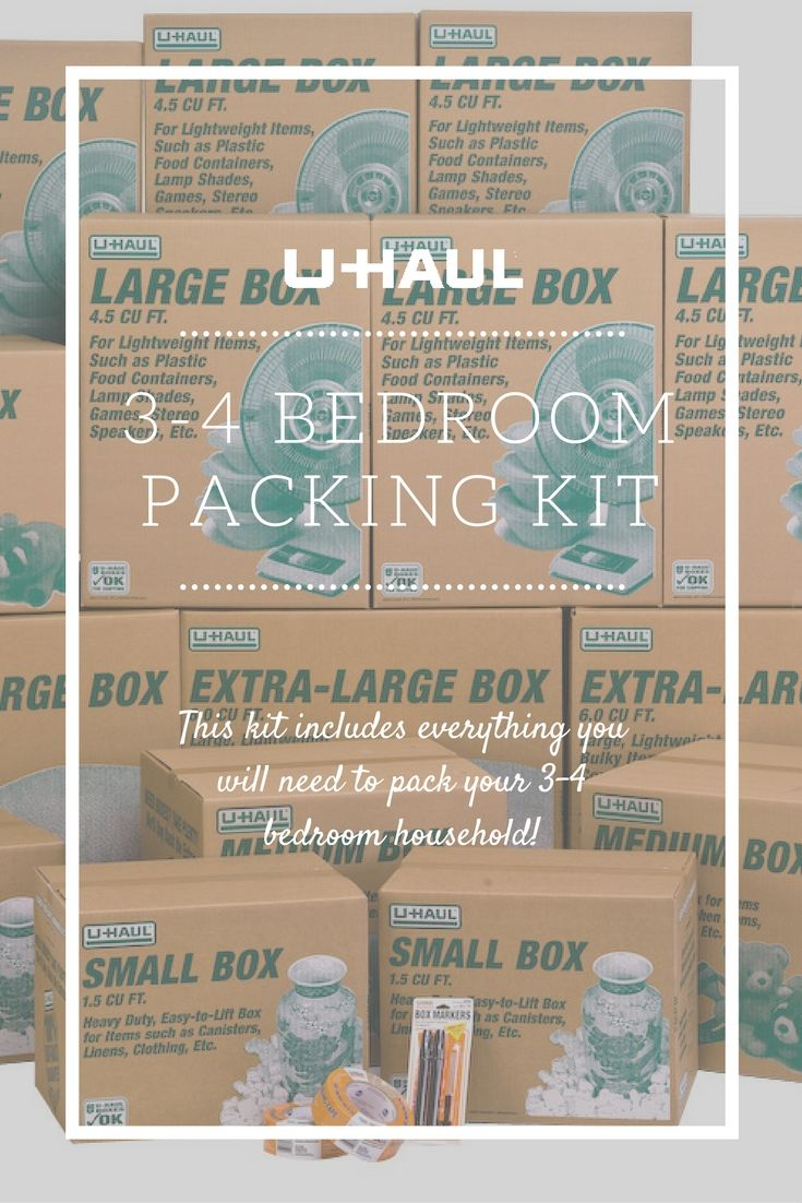3 4 Bedroom Household Kit Moving Supplies Moving Day Moving Boxes