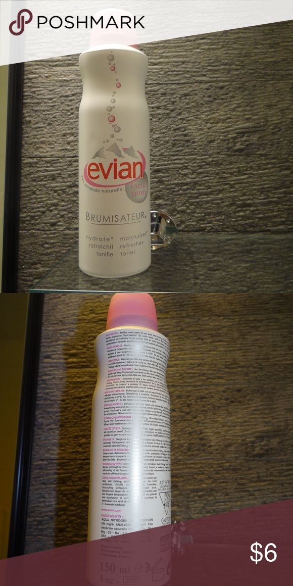 Evian Facial Mist Spray Brand New 5 fl oz Brand new bought in France 150 ml 5 fl oz Brumisateur Facial Spray moisturizes, refreshes and tones never used comes from a smoke- and  pet-free home feel free to make an offer Evian Makeup
