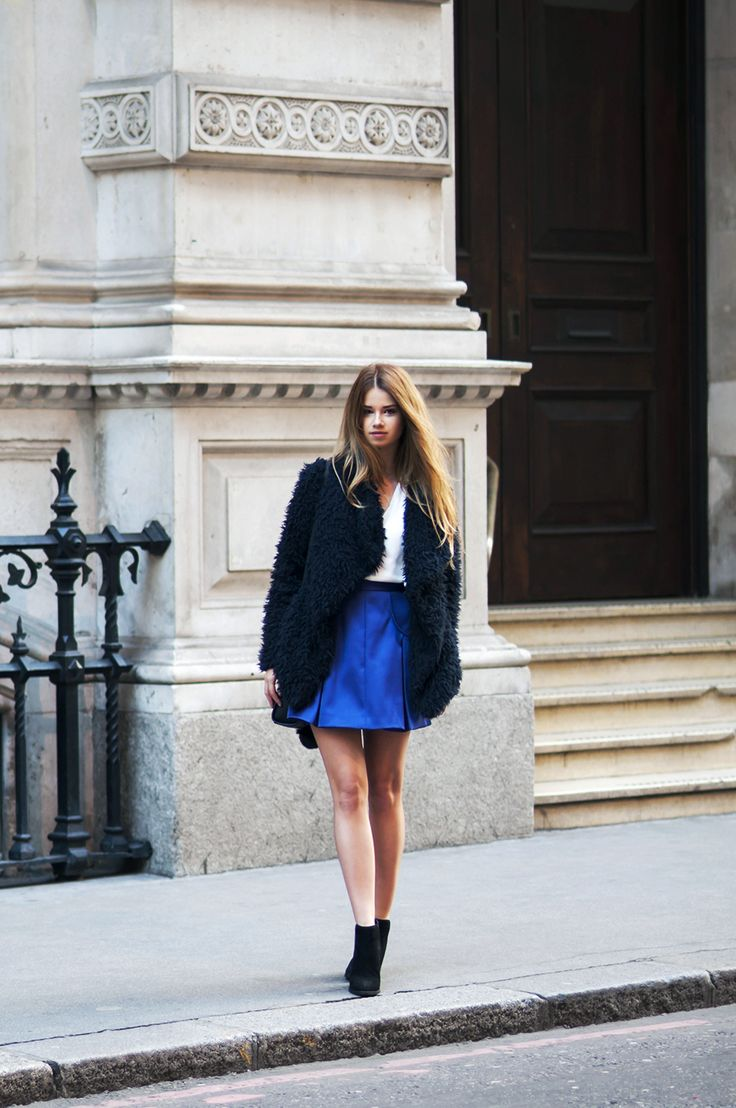 shirt and skirt with coat