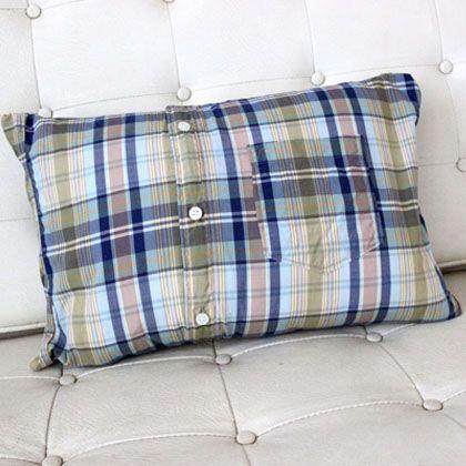 Como hacer fundas para almohadas reciclando camisas viejas