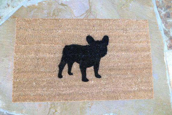 French Bulldog Door Mat by VivaLaFrenchie on Etsy, $30.00