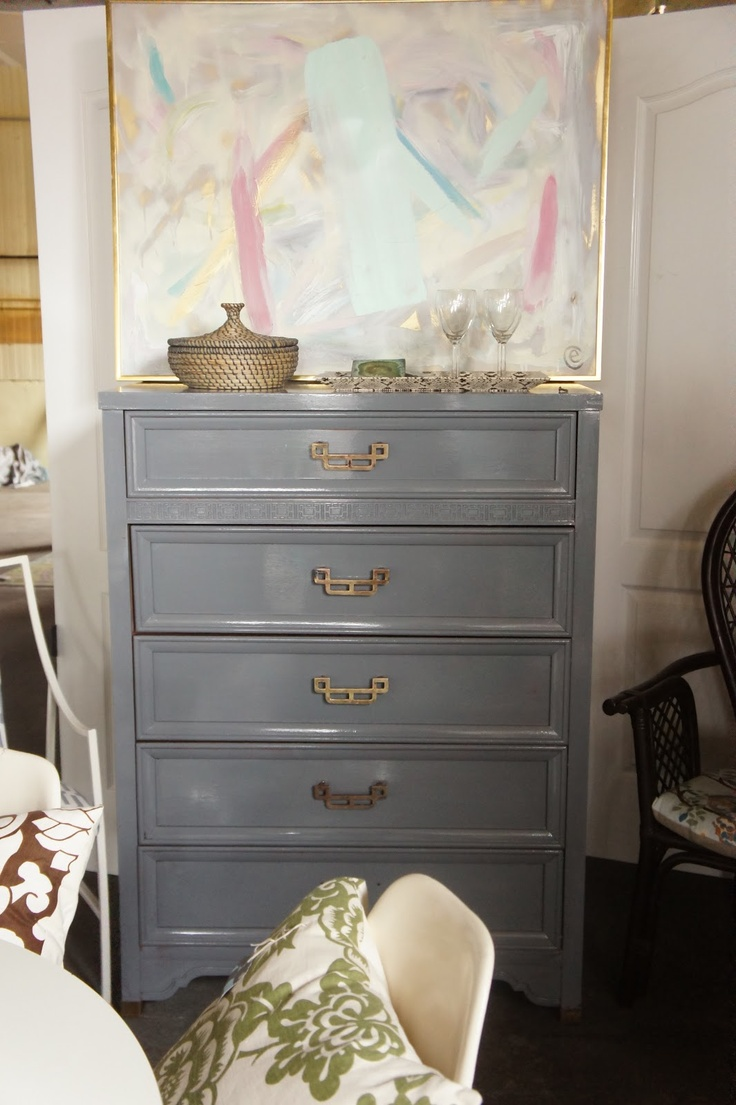 Abstract Art And Asian Dresser From Clementine Olive