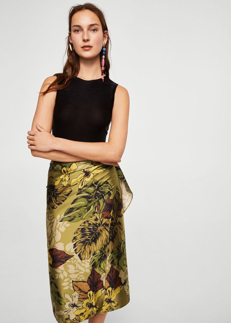 Floral midi skirt -  Women | MANGO USA