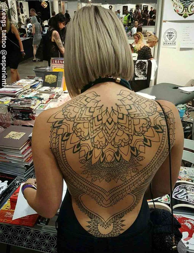 full back tattooed girl