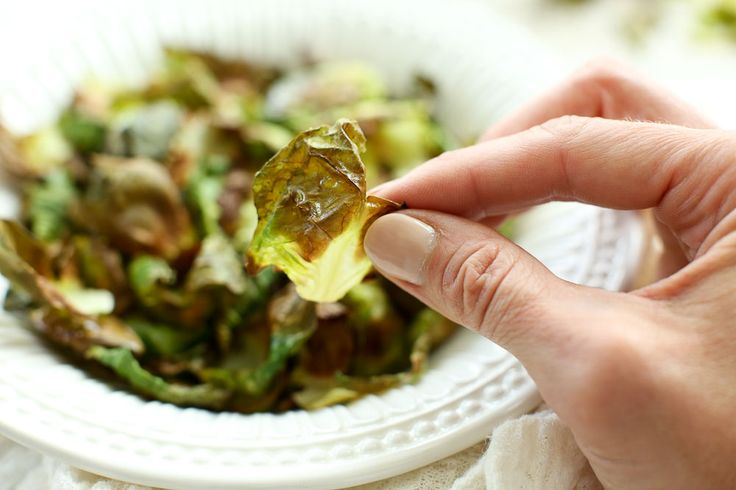 Crispy Brussels Sprouts Chips - Happy Healthy Mama