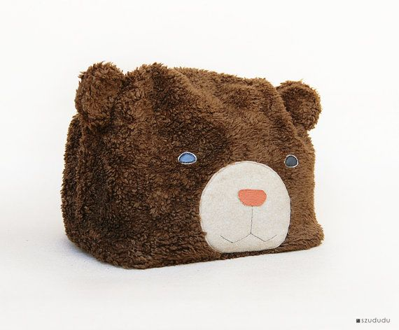 Large Toiletry Bag: Large cosmetic bag personalized, Teddy Bear MakeUp Bag, Dopp kit Christmas gift