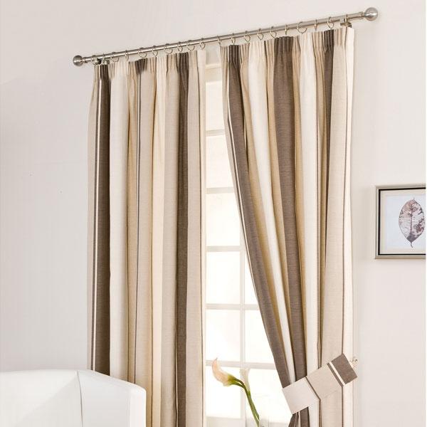 Mocha Milan Pencil Pleat Curtains | Dunelm Mill