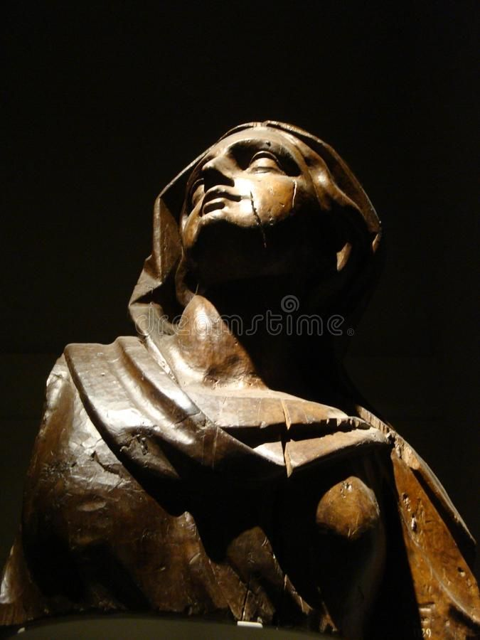 Photo about Our Lady`s statue at Duomo`s Museum - July 2017 - Milan - Italy. Image of italy, fabbrica, catholic - 111277910