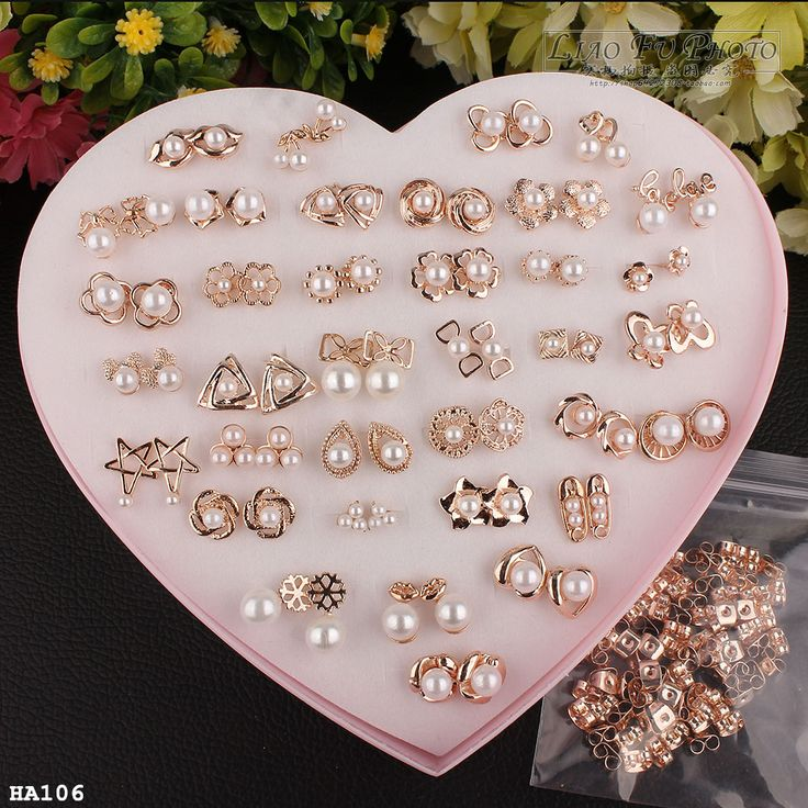 36 Pairs Gold Earrings Fashion Women Lady Costume Jewellery Ear Studs With Display Box New www.bernysjewels.com #bernysjewels #jewels #jewelry #nice #bags