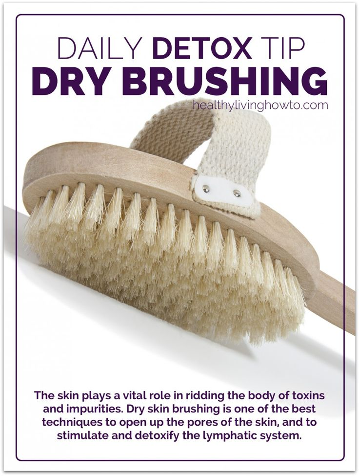 Daily Detox Tip: Dry Skin Brushing | Get your teatox (detox with tea) on with 10% off storewide using discount code 'PINTEREST10' at www.skinnymetea.com.au