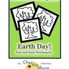 Looking for a fun and easy Earth Day worksheet for your students?  This Earth Day worksheet provides practice for: Coloring Cutting Fine Motor Sk...