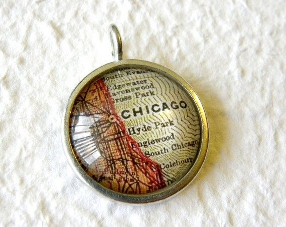 428 best map jewelry images on pinterest photo jewelry cards and maps world traveler map necklace or pendant chicago illinois gumiabroncs Choice Image