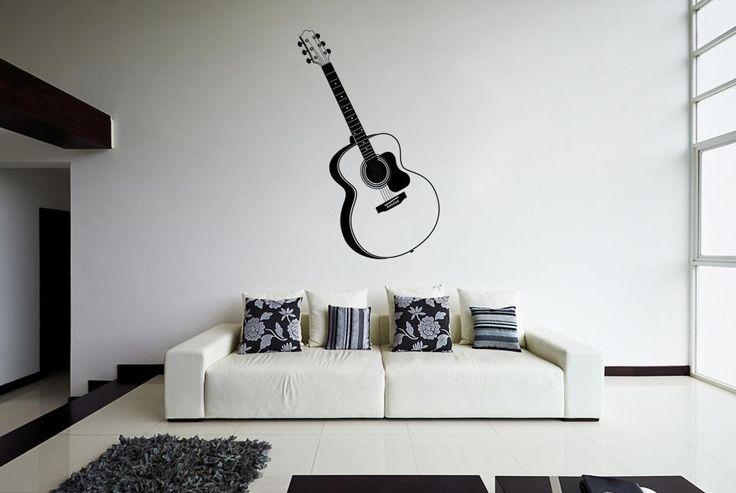 ik800 Wall Decal Sticker guitar music song artist notes chords bedroom teens