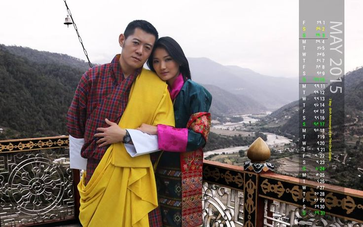 The Royal Couple presents every month a calender on which they are seen in beautiful, colourfull traditional costumes.