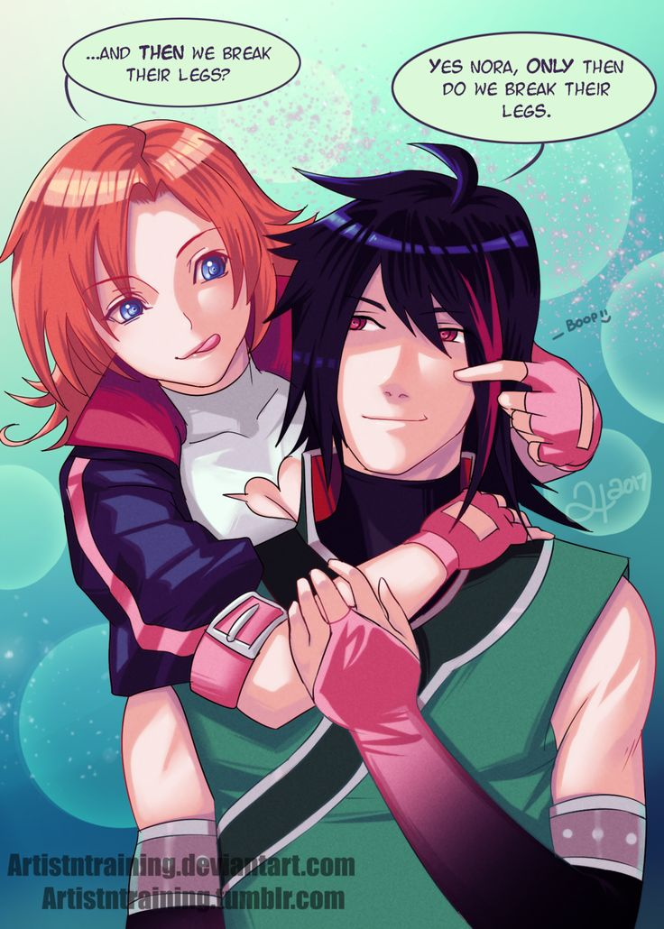 Ren x Nora by Artistntraining | RWBY | Know Your Meme